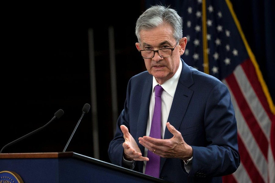 US Federal Reserve Chairman Jerome Powell holds a news conference following a two-day Federal Open Market Committee (FOMC) policy meeting in Washington, US, September 26, 2018. Reuters