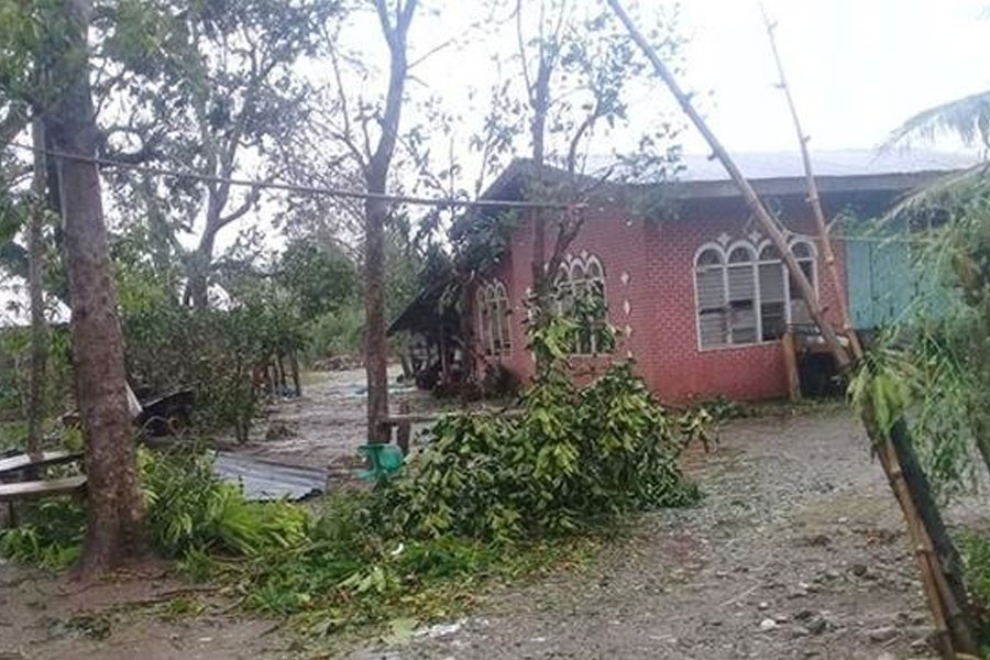 Damages caused by Typhoon Yutu in Isabela province where the typhoon first made landfall in Philippines are seen in this October 30, 2018 still image obtained from social media - Eivron del Rosario/via Reuters