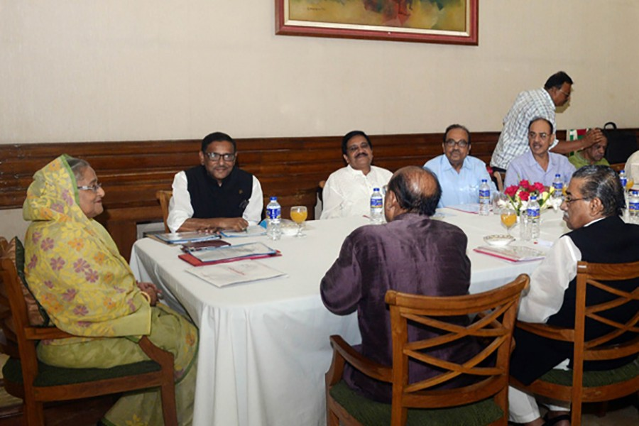 File photo of Awami League conducting its Parliamentary Board meeting