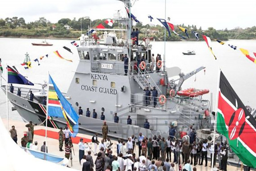 This vessel - the MV Doria - is the Kenyan coastguard's first and only boat.  Photo: Kenya Government