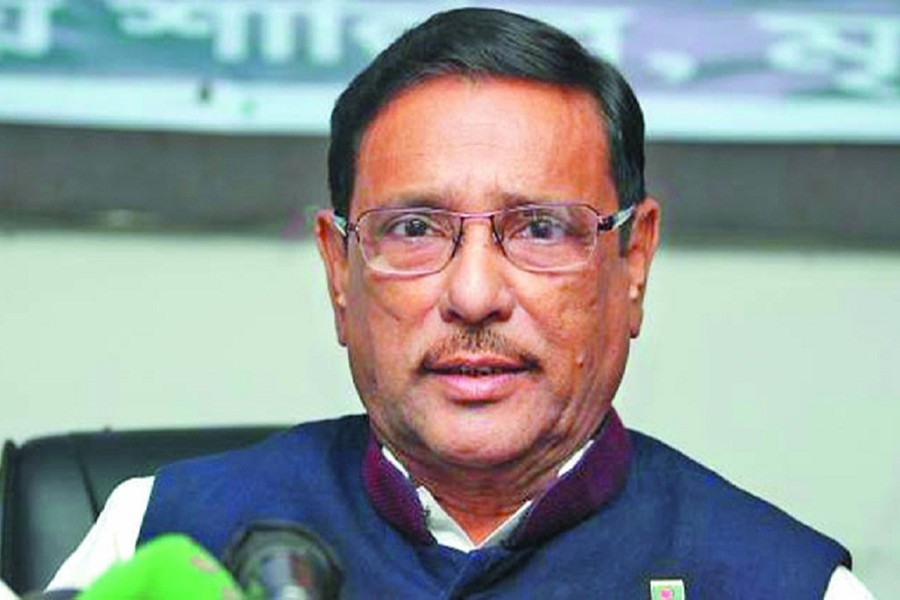 Awami League General Secretary Obaidul Quader seen in this undated UNB photo