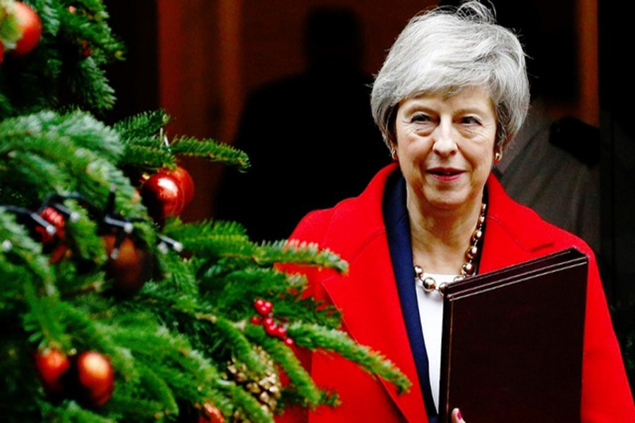 Britain's Prime Minister Theresa May leaves 10 Downing Street, London, Britain, December 4, 2018. Reuters/Files