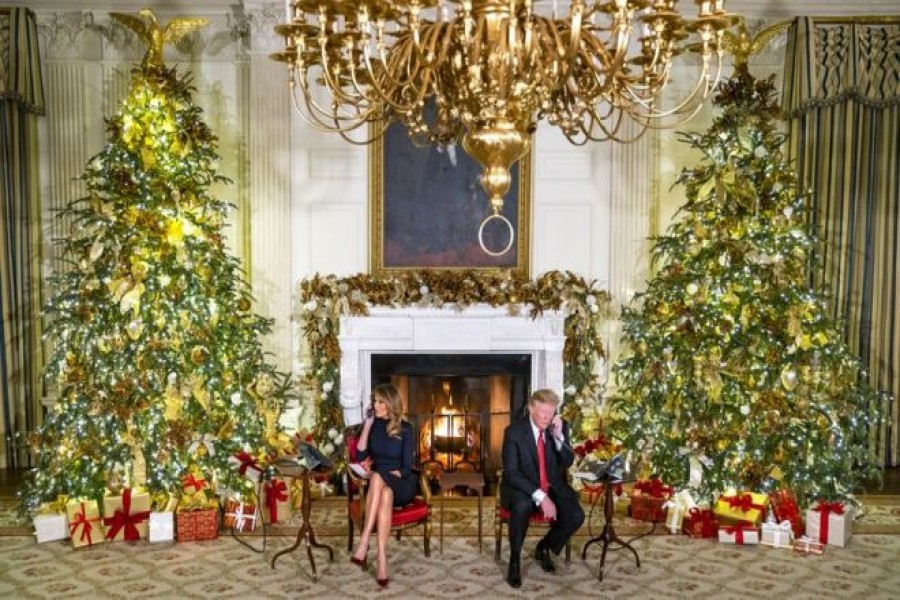 Children from around the US called to speak to the president and his wife on Christmas Eve