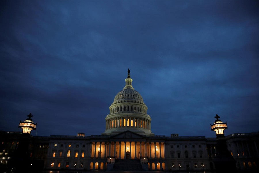US Capitol is seen on the first day of a partial federal government shutdown in Washington, US, December 22, 2018. Reuters/File Photo