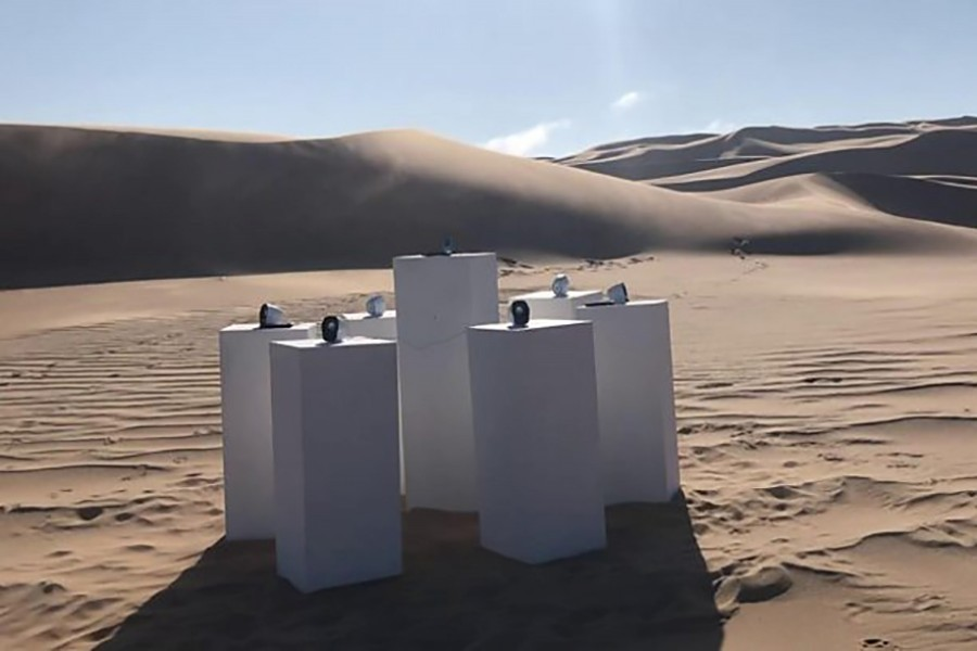 The sound installation is somewhere in the Namib desert, which is 81,000 sq km. Photo: BBC