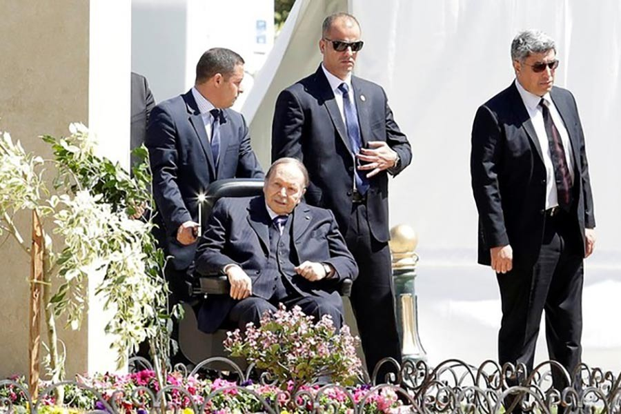Algerian President Abdelaziz Bouteflika is seen in Algiers, the capital of Algeria last year. -Reuters Photo