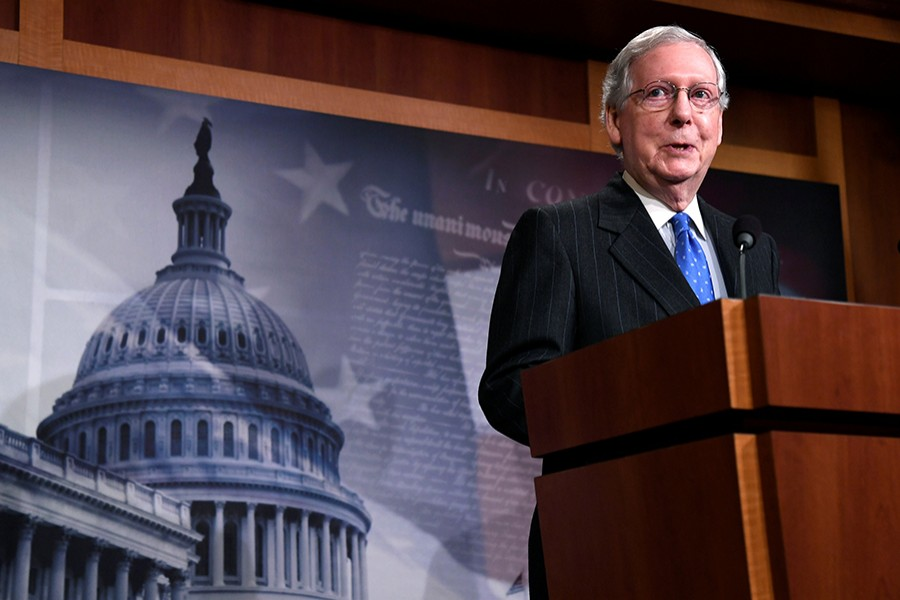 Republican Senate Majority Leader Mitch McConnell seen in this Reuters file photo