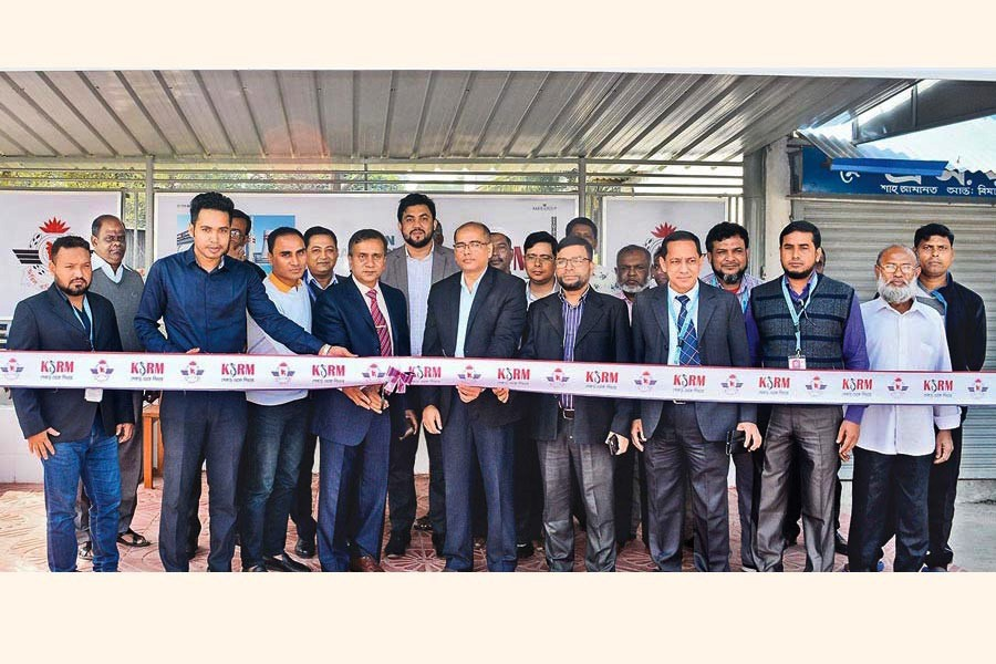 Chattogram Shah Amanat International Airport Manager Wing Commander ABM Sarwar-E-Zaman formally inaugurating the passenger shed recently established by KSRM for the welfare of the general passengers and visitors in the airport lounge