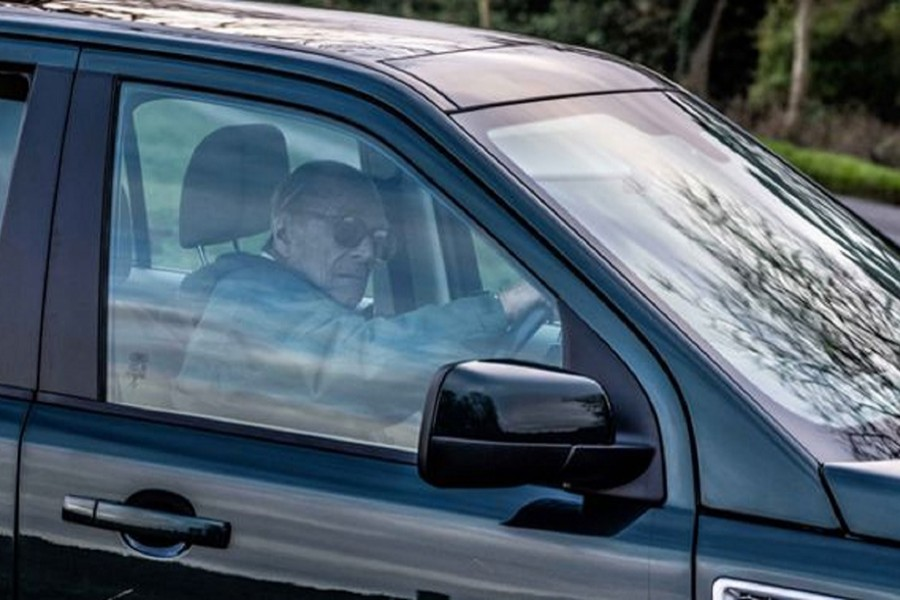 Prince Philip was seen driving a replacement Land Rover two days after the car crash — via BBC