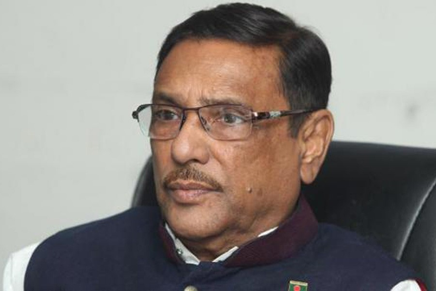 Awami League General Secretary Obaidul Quader seen in this undated file photo