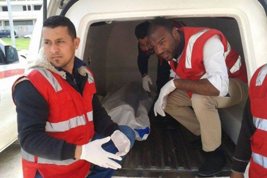 So far this month, a total of 20 unidentified bodies have been recovered in Darna - Photo source: Libyan Red Crescent