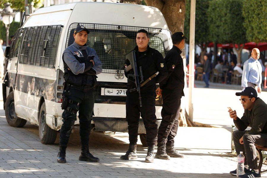 Police officers secure the area at the site of an explosion that occurred in Tunis, Tunisia October 30, 2018 - Reuters photo used for representation