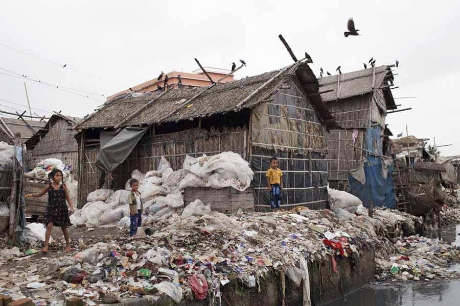 Environmental pollution in villages