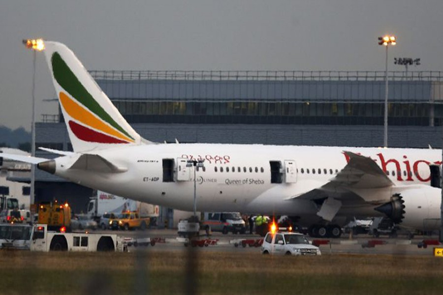 Representational image: An Ethiopian Airlines jet on the runway at Heathrow Airport, London, in July 2013. AP