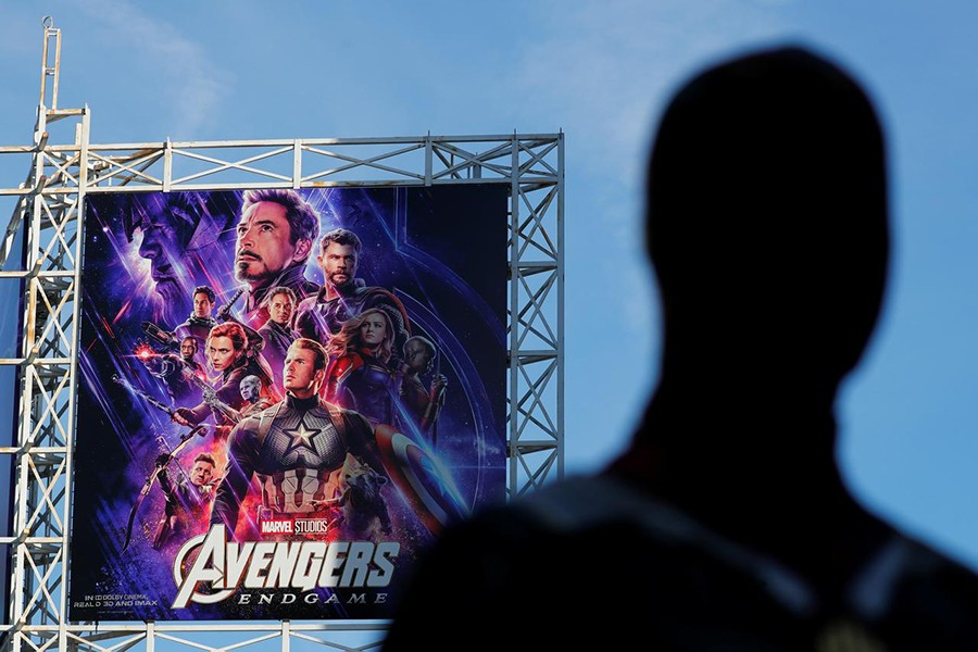 "An Avengers fan in costume arrives at the TCL Chinese Theatre in Hollywood to attend the opening screening of ""Avengers: Endgame"" in Los Angeles, California, US on April 25, 2019 — Reuters photo"