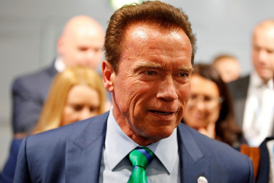 Reuters file photo shows Hollywood legend Arnold Schwarzenegger