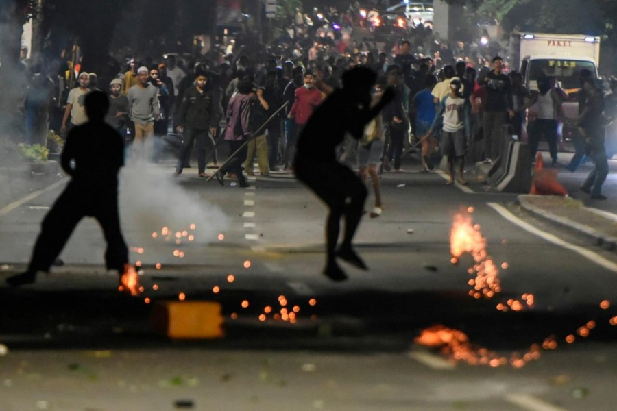 Protests that started peacefully on Tuesday turned violent in the evening, forcing police to fire tear gas to disperse the crowd - Reuters photo