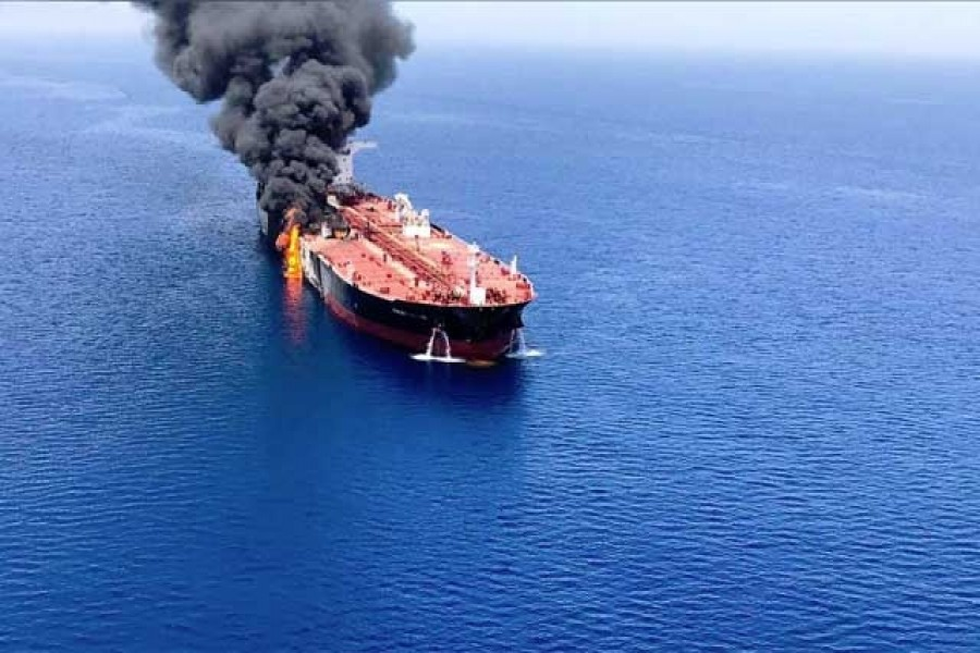 Trump blames Iran for Gulf oil tanker attacks