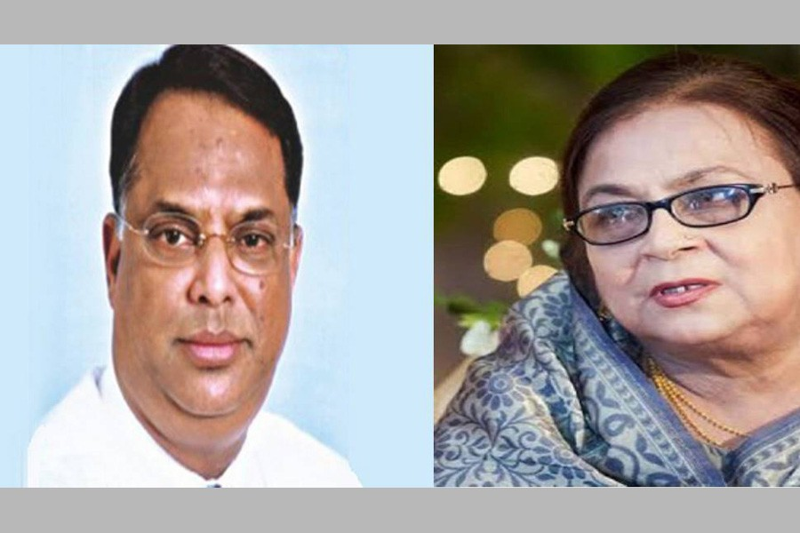 Iqbal Hasan Mahmud Tuku(left) and Selima Rahman - UNB file photo