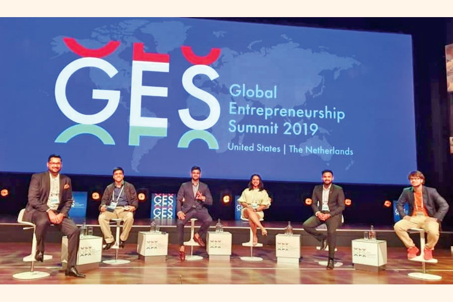 Founders invited from Bangladesh at GES Summit 2019 held at Hague in the Netherlands
