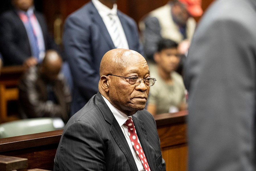Former South African president Jacob Zuma appears in court in Durban, South Africa on June 8, 2018 — Reuters/Files