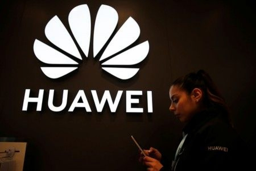 A Huawei signage is pictured at their store at Vina del Mar, Chile, July 14, 2019. Reuters