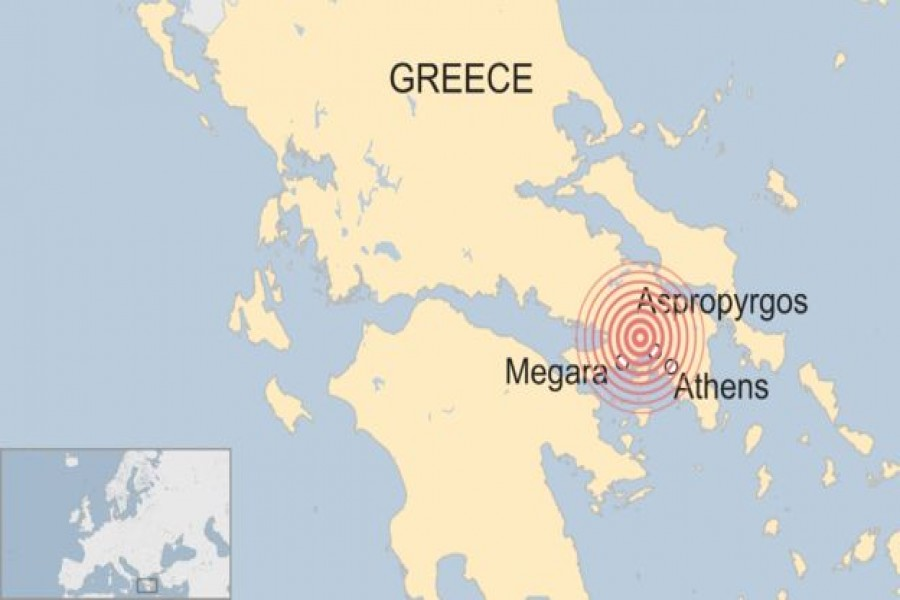 Powerful earthquake jolts Athens