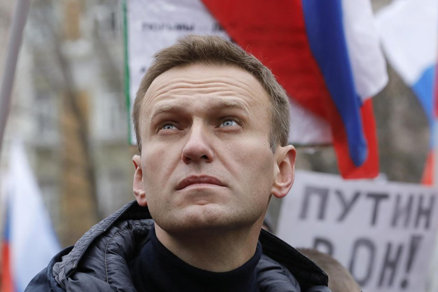 Russian opposition leader Alexei Navalny attends a rally in memory of politician Boris Nemtsov, who was assassinated in 2015, in Moscow, Russia on February 24, 2019 — Reuters/Files