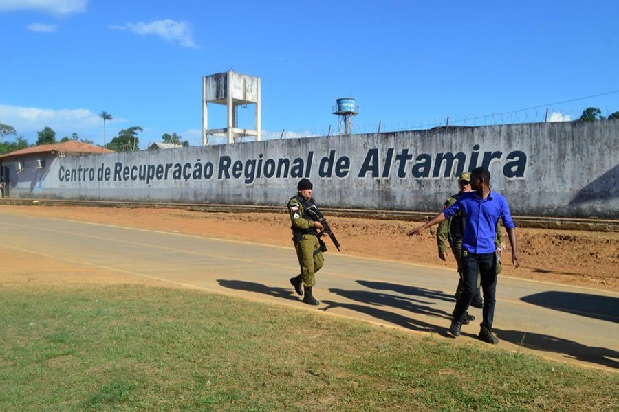 Police patrol in front of a prison after a riot, in the city of Altamira, Brazil on July 29, 2019 — Reuters photo
