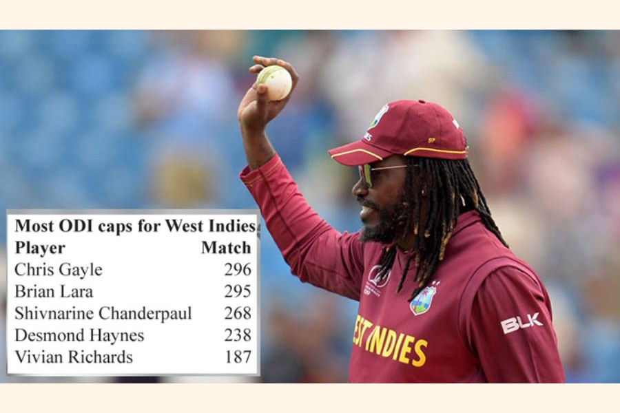 Rain forces Gayle to  break one but miss  another record