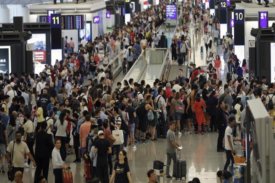 Hong Kong airport reopens, but over 200 flights canceled