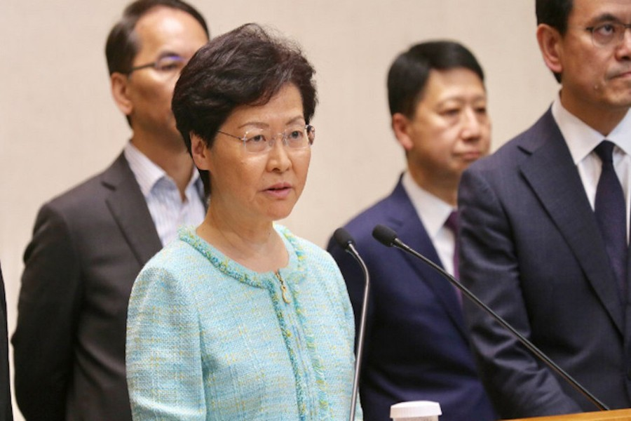 HK leader warns protesters not to push city into 'abyss'