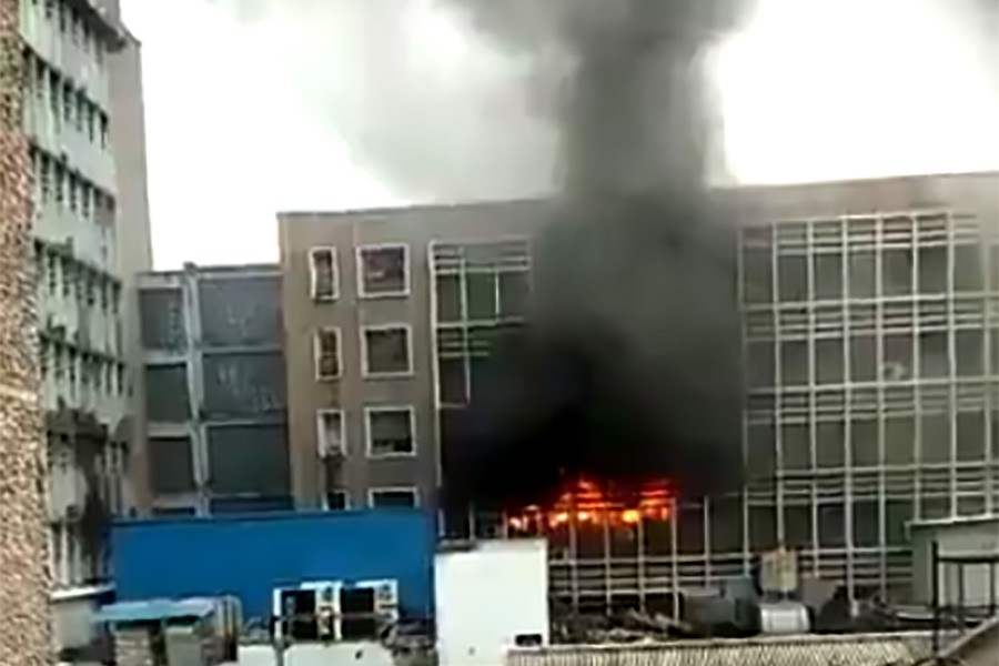 Massive fire breaks out at India hospital