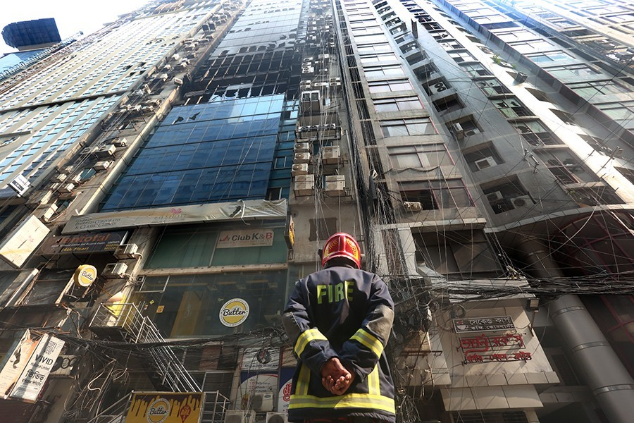At least 27 people were killed and scores injured in the blaze at the 23-storey commercial building FR Tower on March 28 - FE file photo