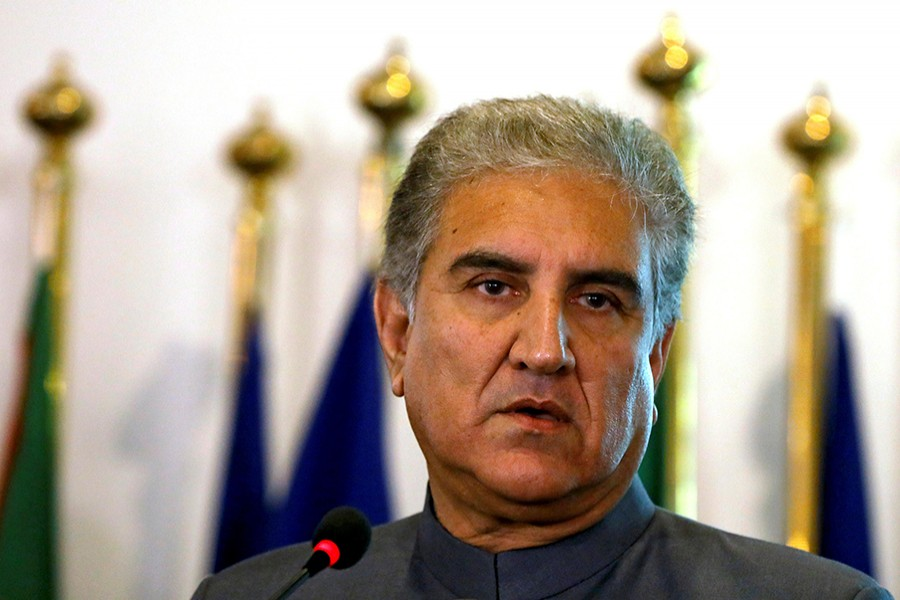 Pakistani Foreign Minister Shah Mehmood Qureshi listens during a news conference at the Foreign Ministry in Islamabad, Pakistan on August 20, 2018 — Reuters/Files
