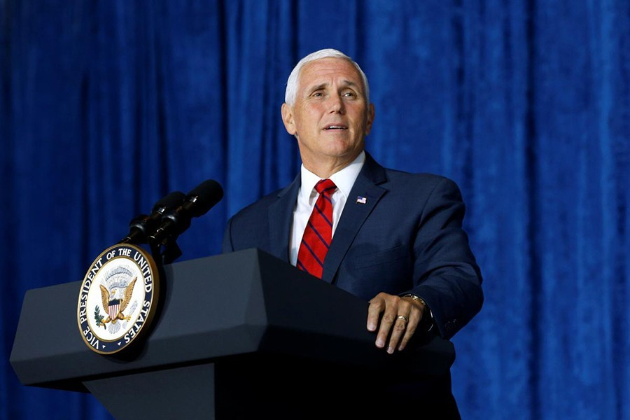 Pence's threat on HK affairs outrageous