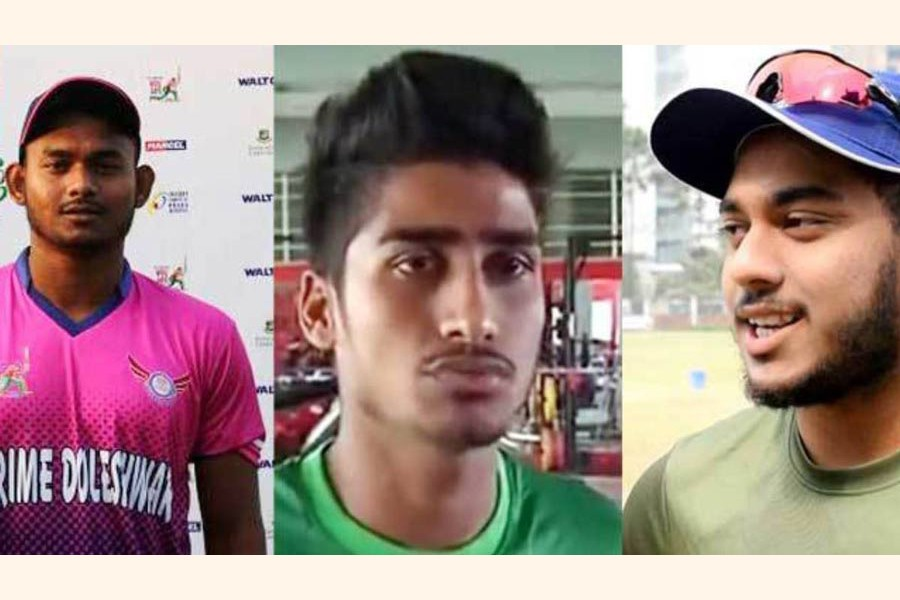 Three young cricketers  injured in road accident