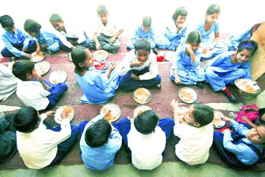Mid-day meal at pry schools
