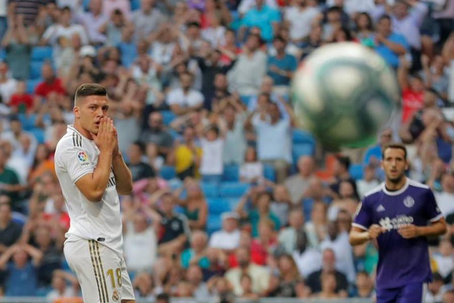 Real Madrid's Luka Jovic reacts during the clash against Valladolid — Reuters photo