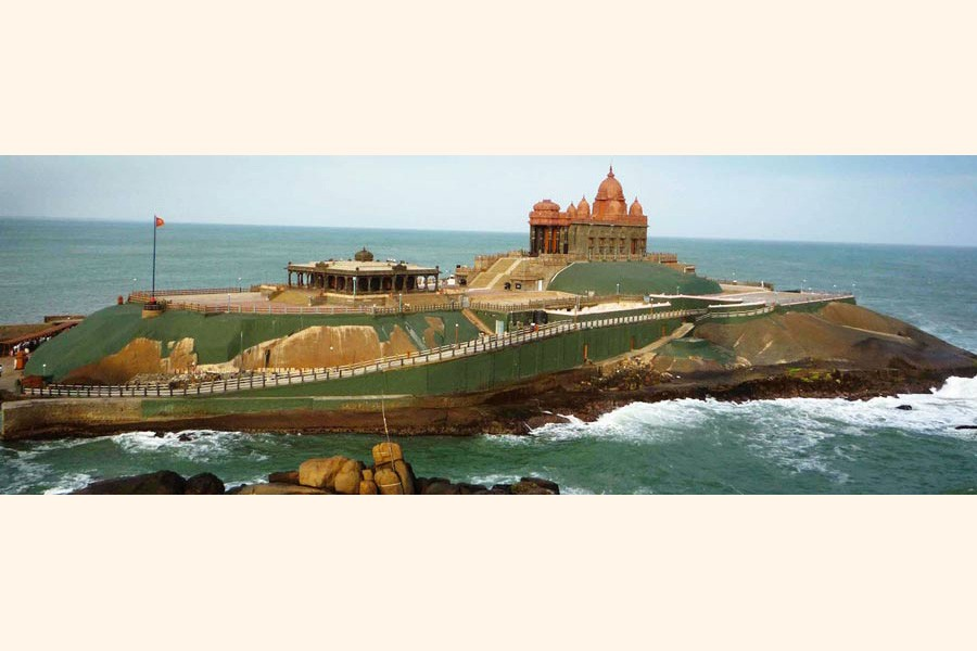 Southernmost tip of India where sea meets land