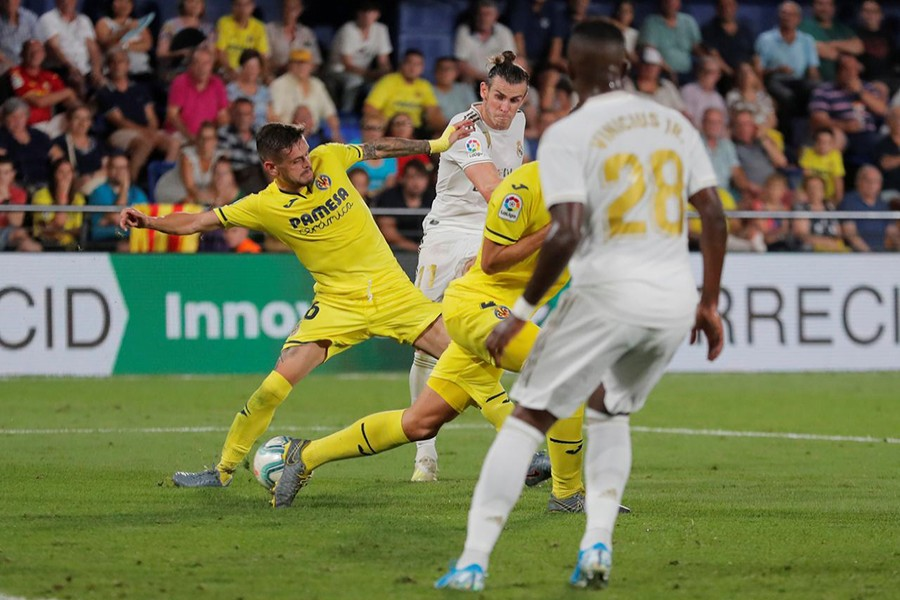 Real Madrid's Gareth Bale scores their second goal — Reuters action image