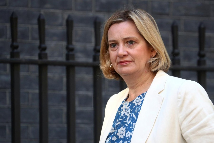 FILE PHOTO - Britain's Secretary of State for Work and Pensions Amber Rudd is seen outside Downing Street in London, Britain July 25, 2019. REUTERS/Hannah McKay