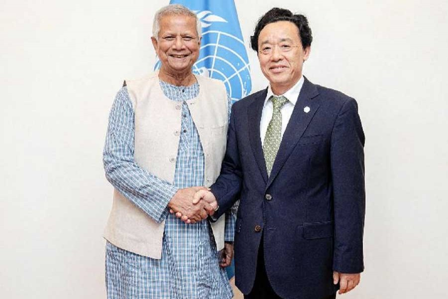 Nobel Laureate Professor Muhammad Yunus meets Director General of Food and Agriculture Organisation (FAO) of the United Nations Qu Dongyu to discuss social business project in Rome, Italy recently.