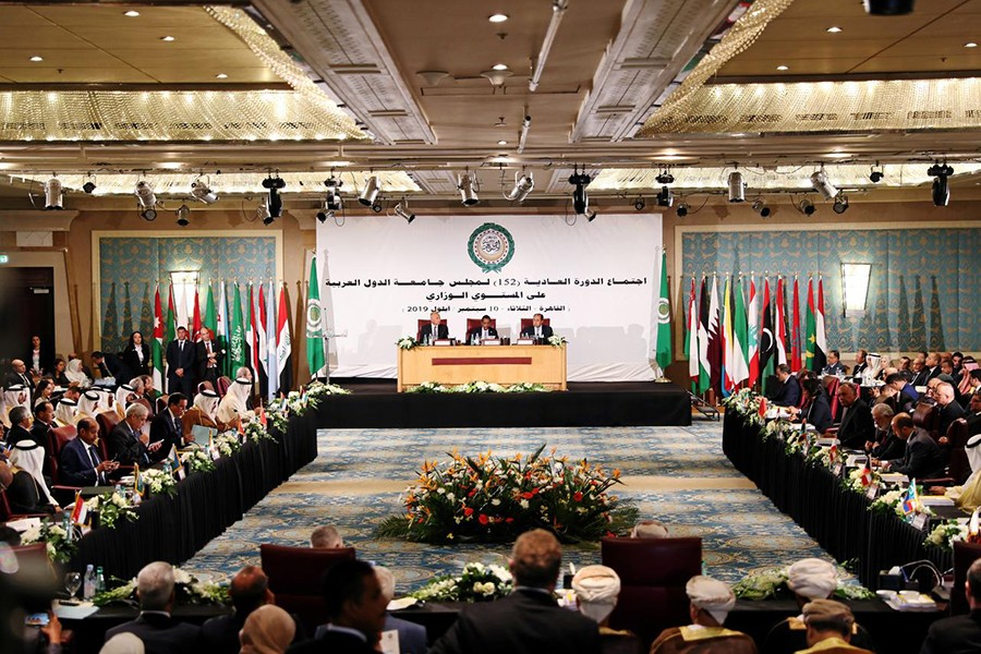 Arab foreign ministers and delegation members attend the annual Arab League meeting in Cairo, Egypt on September 10, 2019 — Reuters photo