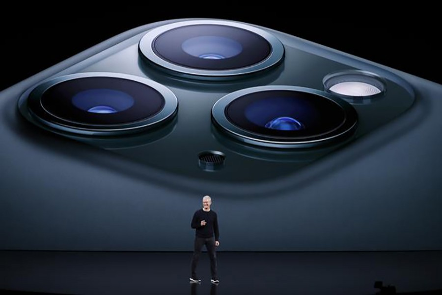 CEO Tim Cook presents the new iPhone 11 Pro at an Apple event at their headquarters in Cupertino, California, US on September 10, 2019 — Reuters photo