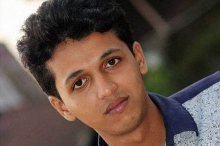 Rifat Sharif, 22, was hacked in broad daylight near the Barguna Government College on June 26 - Collected