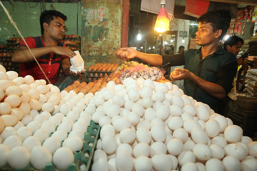 The Trading Corporation of Bangladesh (TCB) recorded a 9-14 per cent hike in egg prices during last week — File photo