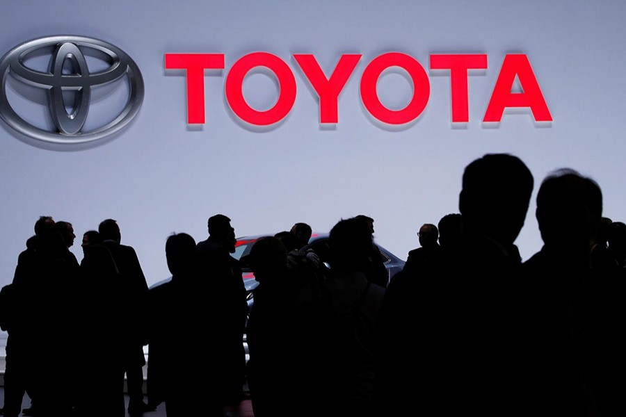 A Toyota logo is displayed at the 89th Geneva International Motor Show in Geneva, Switzerland on March 5, 2019 — Reuters photo