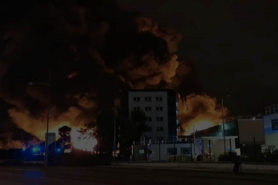 Fire breaks out at French factory in Rouen