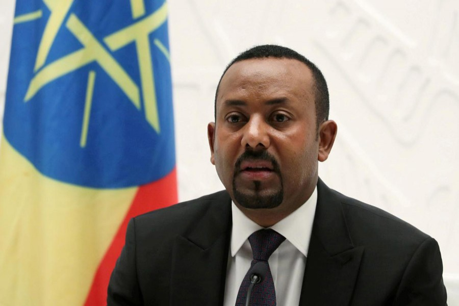 Ethiopia's Prime Minister Abiy Ahmed speaks at a news conference at his office in Addis Ababa, Ethiopia, August 1, 2019. Reuters/Files